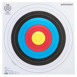 射箭运动国际箭联认证 抗撕裂箭靶 靶纸 GEOLOGIC ARCHERTY TARGET FACE - 40X40