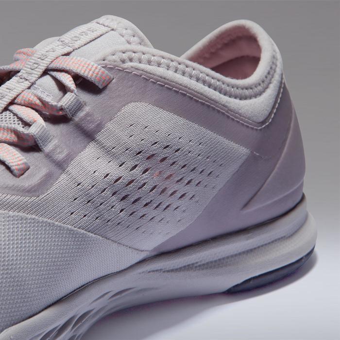 900 女式有氧健身运动鞋 - 灰色/淡紫色