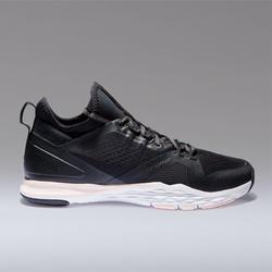 920 女式中帮有氧健身运动鞋 - 黑色/白色/粉色