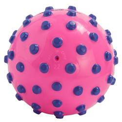 水球Pink small learning to swim ball with violet dots