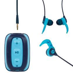 游泳MP3播放器和耳机SwimMusic 100 V2 - Blue