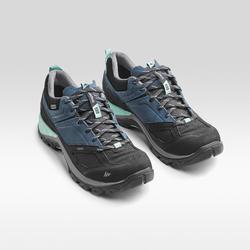 女式山地徒步防水鞋 MH500 - 蓝色