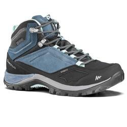 MH500 女士山地徒步中筒防水鞋 - 蓝色