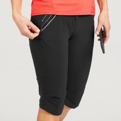 MH500 女式登山徒步七分裤 - 黑色