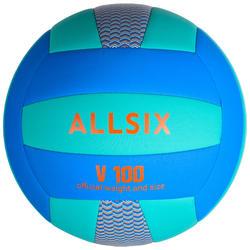 排球V100 - 蓝色/绿色