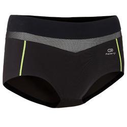 女士跑步透气网平角运动内裤-黑色