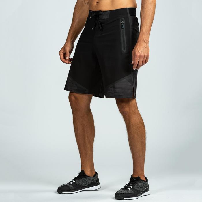男式综合循环训练短裤 900系列 黑色/灰色