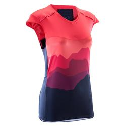 ST 500 女性短袖运动衫-蓝色/粉红色