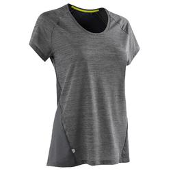 女士跑步运动轻质T恤-灰色