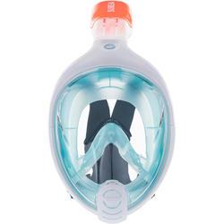 儿童全干式浮潜面罩Easybreath (6-10 岁 / XS号) - Blue
