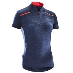500 女士短袖骑行运动衫-海军蓝色