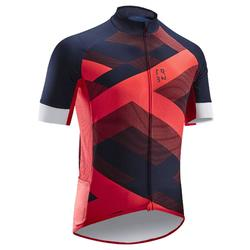 RC500 X Road Cycling Short-Sleeved Warm Weather Jersey - Red/Navy