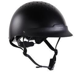 C 100 马术头盔 - 黑色