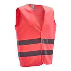 500 反光安全骑行背心- 粉色