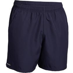 男士网球轻盈短裤100-海军蓝