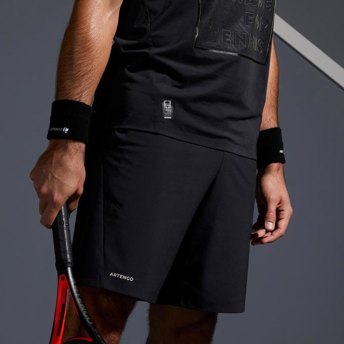 男士网球轻盈T恤900-黑