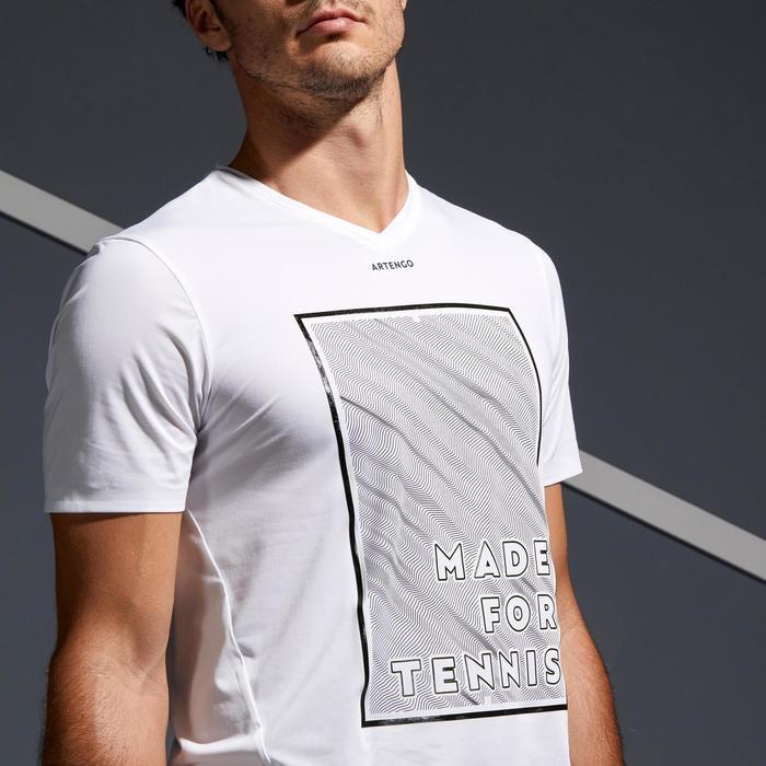 男士网球轻盈T恤900-白