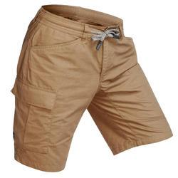 TRAVEL 100 男式徒步旅行短裤 - 卡其色