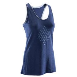 女式舒适攀岩背心 - 蓝色