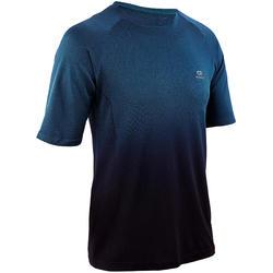 KIPRUN CARE男式亲肤跑步T恤-黑绿配色