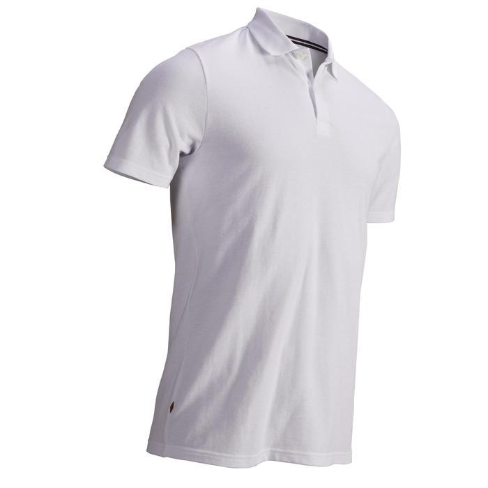 男士凉爽天气高尔夫polo衫500系列 白色