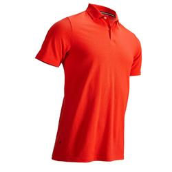 MEN'S GOLF POLO SHIRT CORAL RED