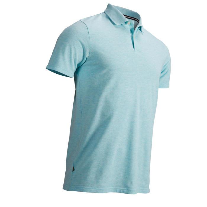 男士 凉爽天气高尔夫Polo衫500系列 蓝绿色