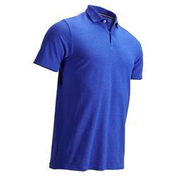 男士凉爽天气高尔夫Polo衫-斑驳宝蓝色