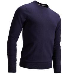 男士高尔夫套头衫-海军蓝