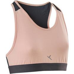 女童青少年体能运动背心100 系列 - 粉色