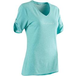 510 Women's Pilates & Gentle Gym T-Shirt - Blue Print