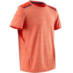 男童青少年体能短袖T恤S500系列透气款 - 橙色