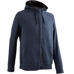 900 Hooded Gentle Gym & Pilates Jacket - Blue