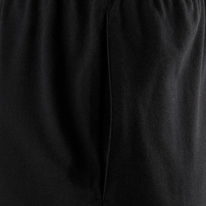 100 Regular-Fit Pilates & Gentle Gym Shorts - Black