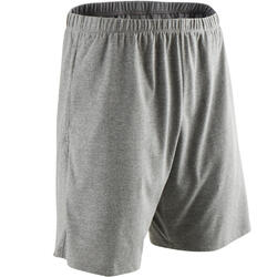 100 Regular-Fit Pilates & Gentle Gym Shorts - Mottled Light Grey