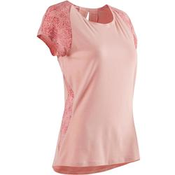 520 Women's Pilates & Gentle Gym T-Shirt - Light Pink