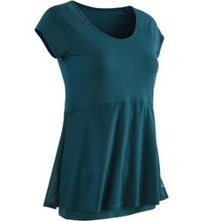 530 Women's Pilates & Gentle Gym T-Shirt - Petrol Blue