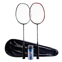 ADULT BADMINTON RACKET BR 530 SET COUPLE ORANGE MINT