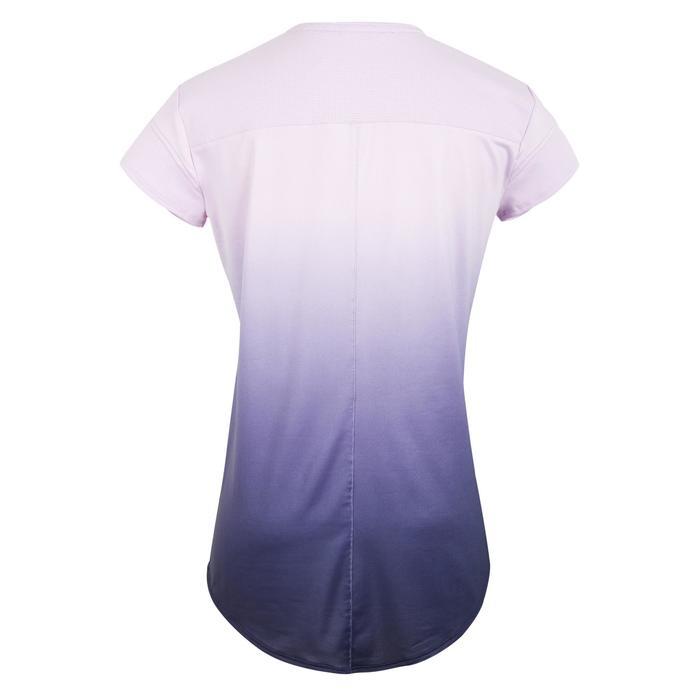 500 女式有氧健身T恤 - 渐变淡紫色