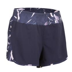 500 女式有氧健身短裤 宽松款 - 海军蓝印花