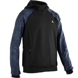 S500 Boys' Warm Breathable Synthetic Hooded Sweatshirt - Black