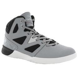 成人篮球运动鞋 适用于初学者- 灰色/黑色