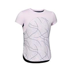 女童青少年体能短袖T恤S900系列- 紫色