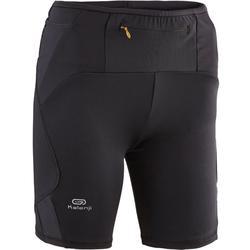 女式越野跑紧身短裤-黑色