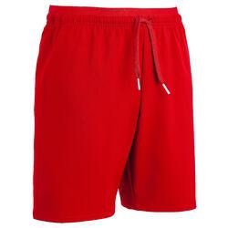 青少年足球运动短裤 F500-红色