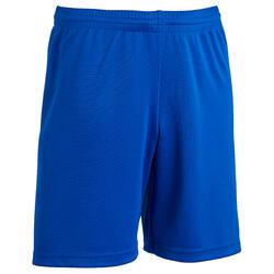 青少年足球短裤 F100 - 靛蓝