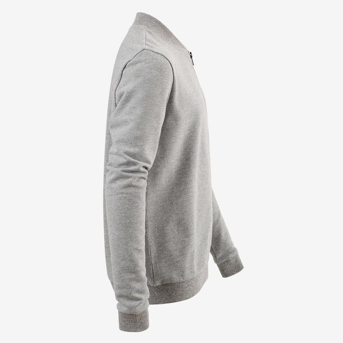 男童青少年体能保暖夹克100系列 - 灰色