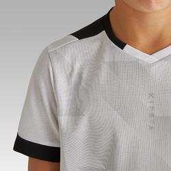 儿童短袖足球运动服 F500 - 白色/黑色
