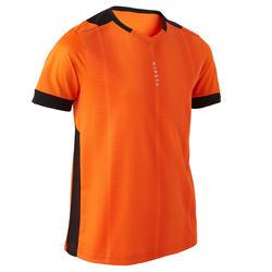 F500 Kids' Short-Sleeved Football Shirt - Orange/Black
