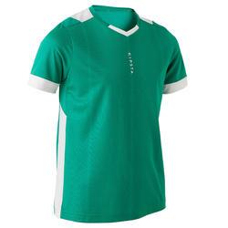 儿童短袖足球运动服 F500 - 绿色/白色